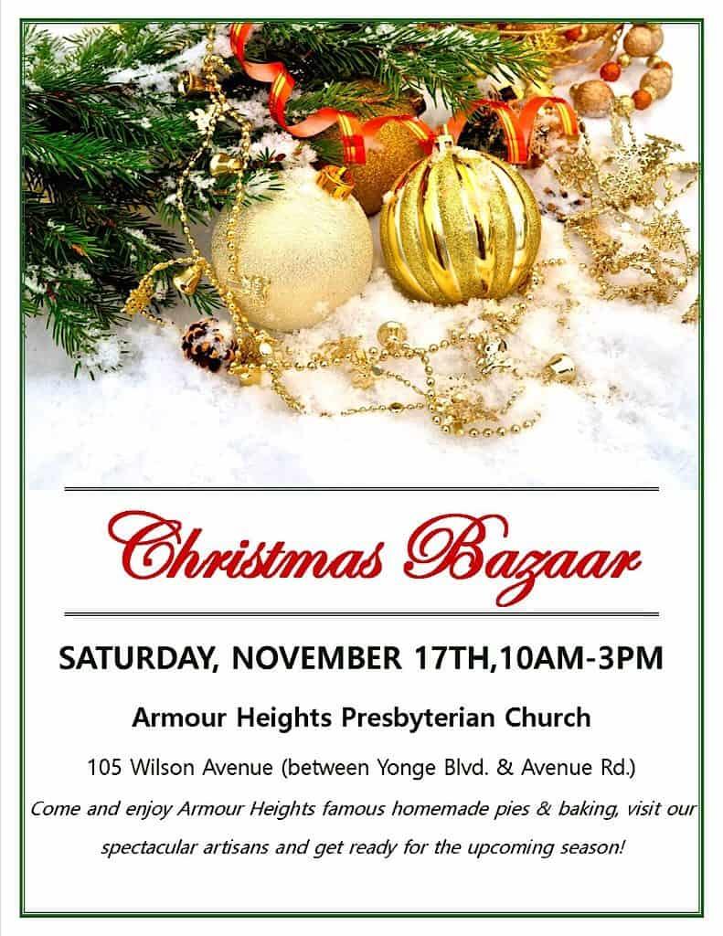 Christmas Bazaar @ Armour Heights Presbyterian Church | New York | United States