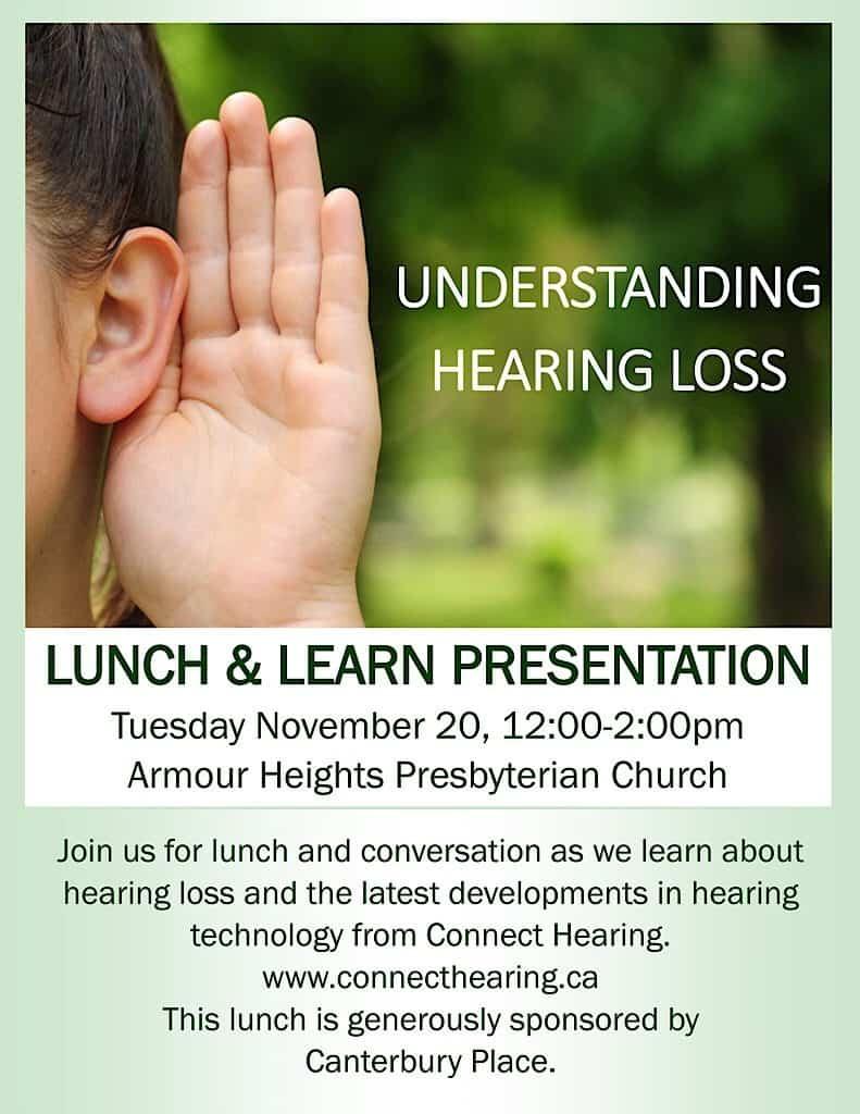 Understanding Hearing Loss @ Armour Heights Presbyterian Church