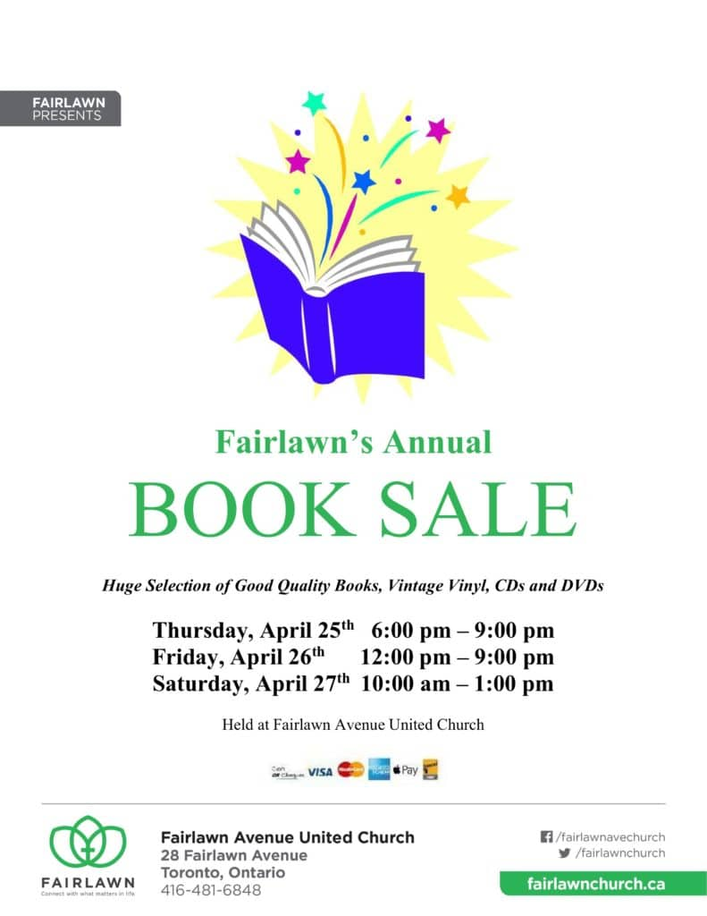 58th Annual Fairlawn United Church Book Sale @ Fairlawn Avenue United Church | Toronto | Ontario | Canada
