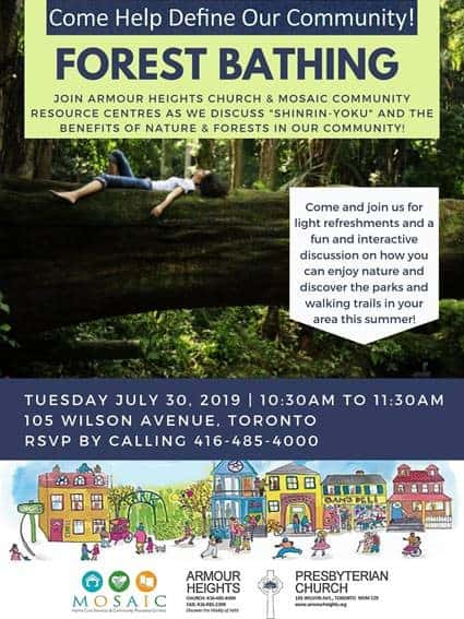 Community Cafe - Forest Bathing @ Armour Heights Presbyterian Church | Toronto | Ontario | Canada